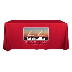 "6' Flat Dye Sublimation ValuTex™ Table Cover (132""x60"")"