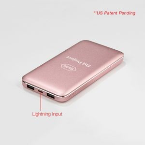 Pink (Rose Gold) UL Certified 10,000 mAh Stylish Metal Powerbook
